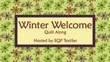 Totaal stoffenpakket Winter Welcome QAL Ellies Quiltplace 2019_