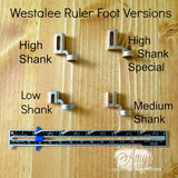 """Low Shank Ruler Foot with 12"""" Arc and Stable Tape (WRF-SS-LS)_"""