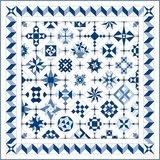 Stofpakket C Love & Hope Sampler Quilt Blauw/cremewit_