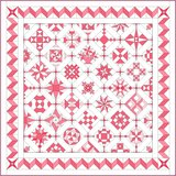 Stofpakket B Love & Hope Sampler Quilt Roze /cremewit_