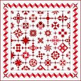 Stofpakket A Love & Hope Sampler Quilt Rood/cremewit_