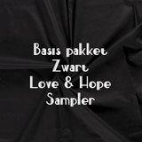 ZWARTE stoffen Basis Love & Hope Sampler_