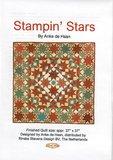 Patroon Stampin stars  van Anke de Haan en stempelsets_
