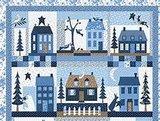 2985-20 Bunny Hill Blue brown stripe_