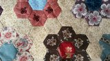 Quiltpakket Hexagon Quilt met rode rand _