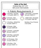 Belle of the Ball prinsessen Quilt Patroon _