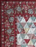 Mini Quilt Antieke Driehoekjes Rood_
