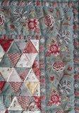 Mini Quilt Antieke Driehoekjes Oud Blauw_