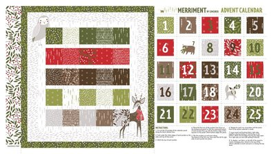 48272-11 Merriment Advent kalender panel