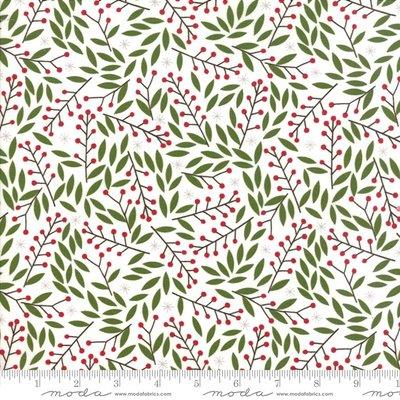 48273-11 merriment White berries & leaves