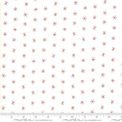 48275-21 merriment White Red Snowflakes