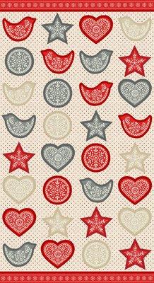 1788-1 Garland Scandi Panel hearts & Birds