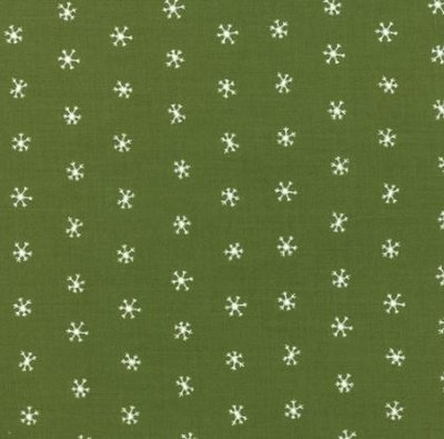 48275-13 Merriment green snowflakes