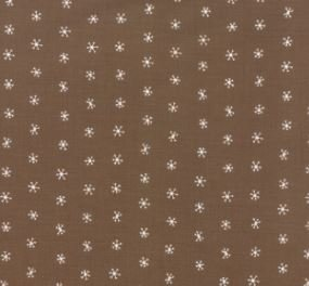 48275-15 Merriment brown snowflakes