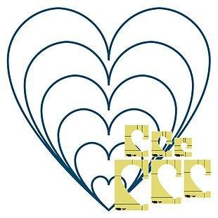 6pc Heart Template Set Longarm