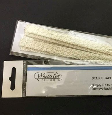 """Stable Tape - Packets of 12 Strips AT 6"""" EACH - cut to size"""