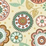 1874/Q Doodle Days Flower Ivory