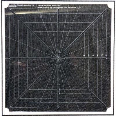 """CMD-12M Cross Hair Square Ruler Full markings 12"""""""