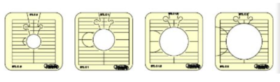 BTL-4-LS, Between the lines set of 4 templates, Low Shank, Westalee