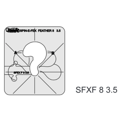 SFXF8-3.5, Spin-e-fex Feather 3.5 by Westalee (low shank)
