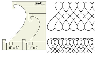"WT-CHB2-HS, Continuous Heart Border Template 6"" x 3"" - 4"" x 2""High Shank, Westalee"