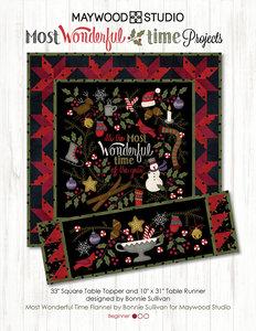 Totaal Quiltpakket Most Wonderful Time Quilt en 2 Tafellopers