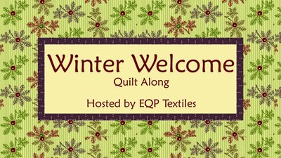 Totaal stoffenpakket Winter Welcome QAL Ellies Quiltplace 2019