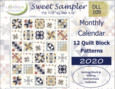 DLL109, Sweet Sampler by Kathy Skomp, 2020 Monthly Calendar BOM