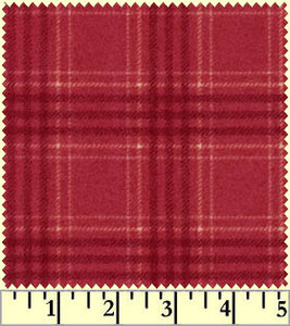 F18142-R4 Rood grote ruit flanel