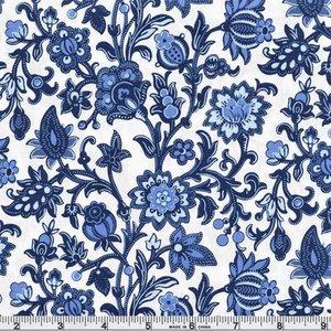 51426-1 Bue Byrd Porcelain rambling Floral
