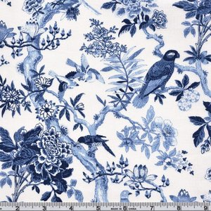 51425-1 Bue Byrd Porcelain blue Aviary
