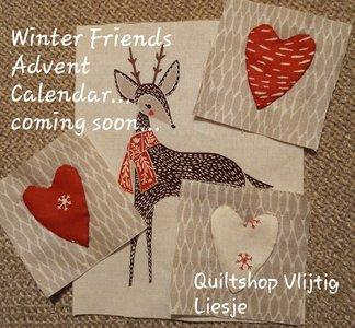 Adventskalender in doosjes Winter Friends van Vlijtig Liesje