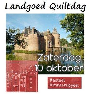 LG Quiltdag Kasteel Ammersoyen zaterdag 10 oktober 2020