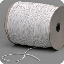 Wit koord elastiek 1.5 mm voor Mondkapjes
