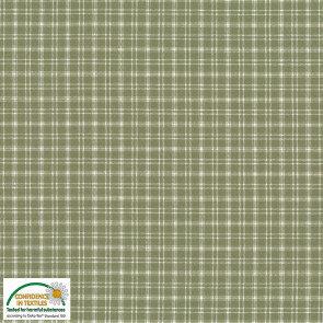 2750-834 Nordso ruitje medium groen ecru 166 cm breed