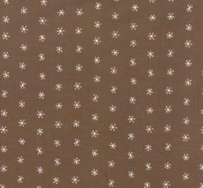 48275-15 Merriment brown snowflakes