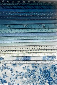 Stofpakket blauw 20 x 25x25cm