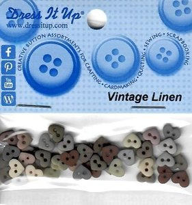 DIU-8321 Vintage Linen knoopjes