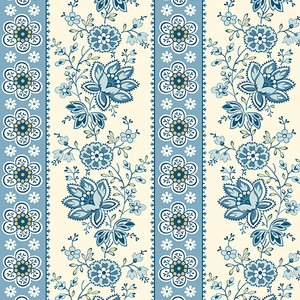9578B perfect Union Floral Str Blue Bell