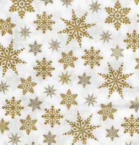 2590-150 Wit met goud print kristallen