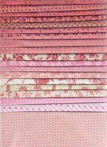 Stofpakket roze  20 x 25x25cm