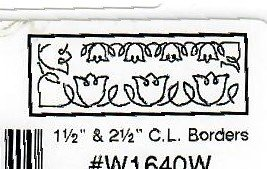 Quilt sjabloon W1640W 2,5 inch / 5 cm breed C.L. Borders 2 maten randen