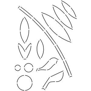 Quilt sjabloon LBQ-0428-T Simple Shapes Stencil A4 formaat totaal