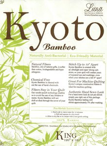 Pakket Kyoto Bamboo tussenvulling size King 120 x 120 inch, 305 x 305 cm