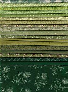 Stofpakket groen  20 x 25x25cm