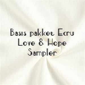 ECRU stoffen Basis Love & Hope Sampler