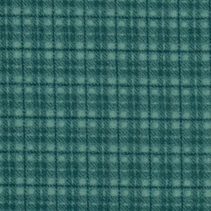 F18502-Q woolies flanel donker turquoise