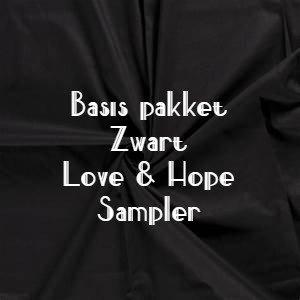 ZWARTE stoffen Basis Love & Hope Sampler