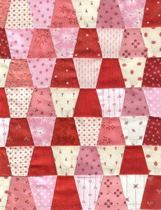 Quiltpakket Vingerhoedjes Quilt  Startpakket Rood Roze