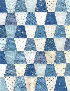 Quiltpakket Vingerhoedjes Quilt  Startpakket Blauw